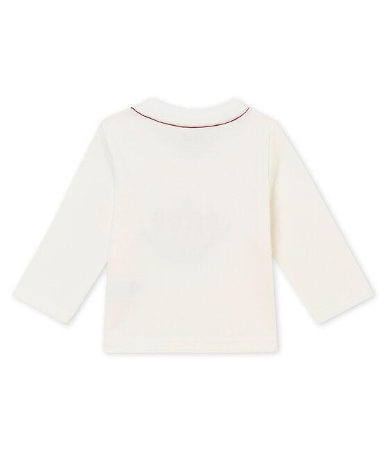 Baby boy's T-shirt Marshmallow white / Terkuit red