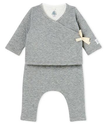 Babies' Tube Knit Clothing - 2-piece set Subway grey