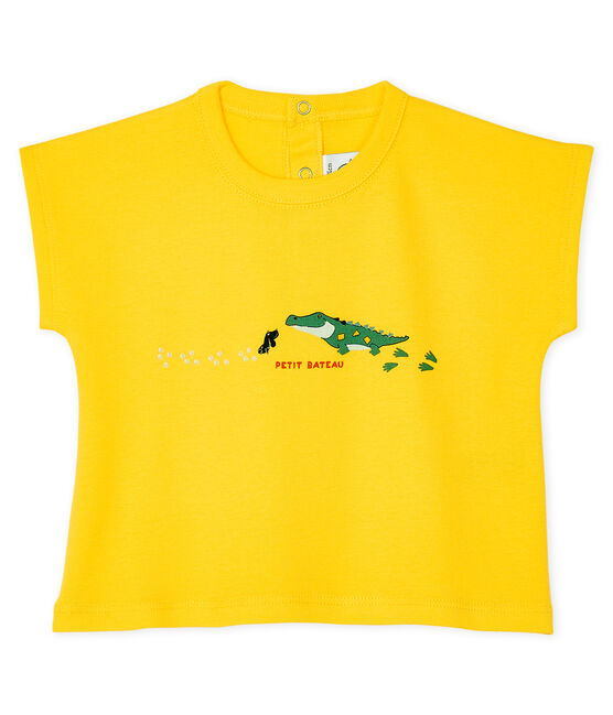 Short-sleeved T-shirt for baby boys Shine yellow