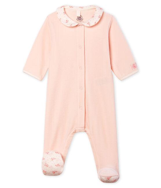 Baby Girls' Velour Sleepsuit FLEUR