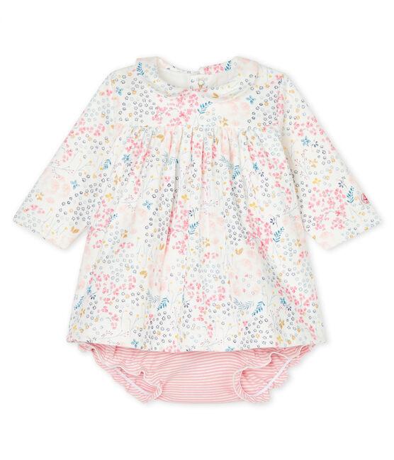 Baby girls' clothing - 2-piece set Marshmallow white / Multico white
