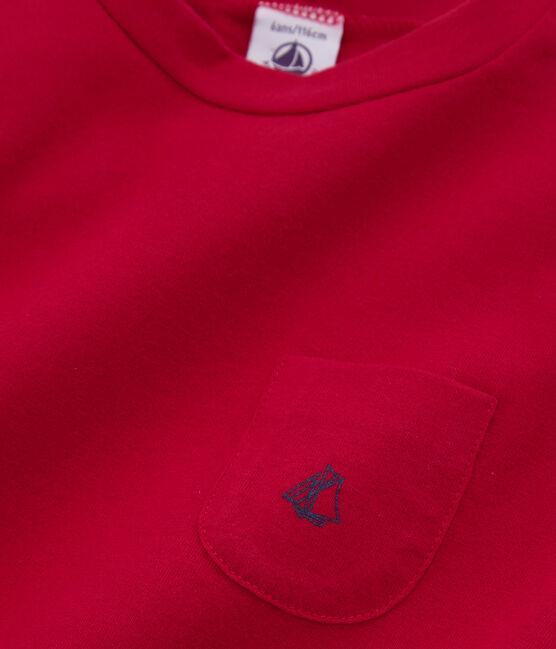 Boys' Short-sleeved T-shirt Terkuit red