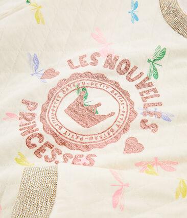 Girls' Sweatshirt Coquille beige / Multico white