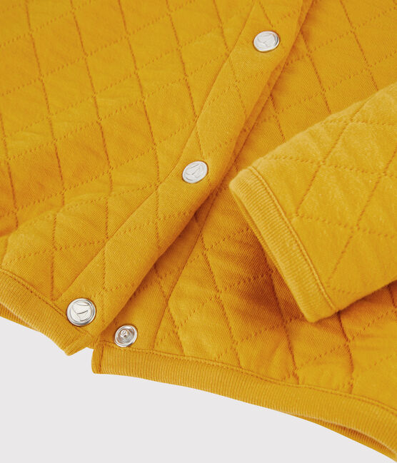 Girls' Tubular Knit Cardigan Boudor yellow