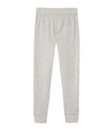 Women's leggings in an extra-fine tube knit Beluga Chine grey