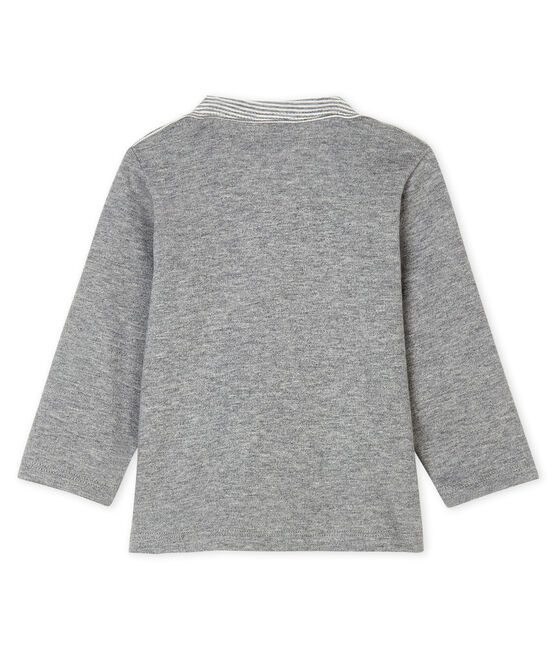 Baby Boys' Striped Long-Sleeved T-Shirt Subway grey