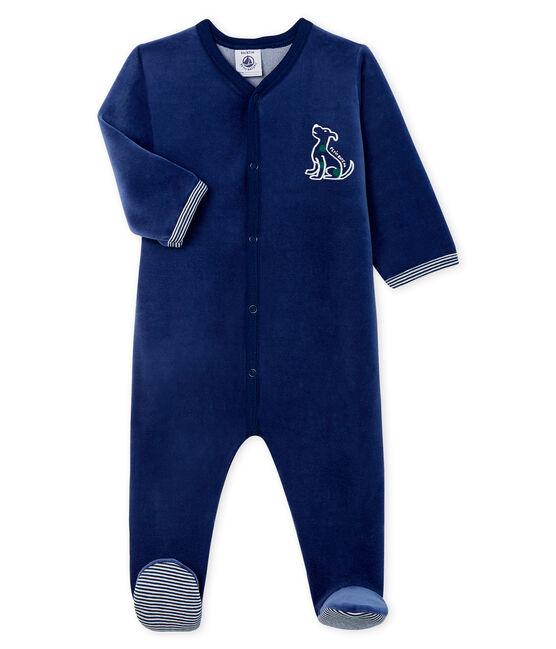 Baby Boys' Velour Sleepsuit MEDIEVAL