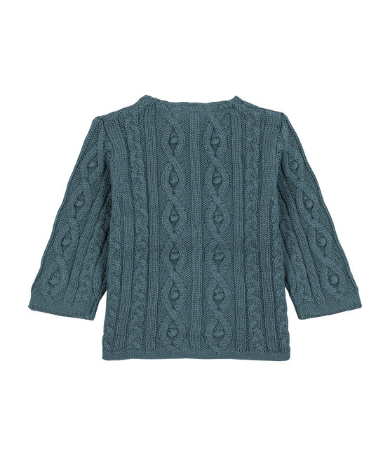 Cable-knit cardigan Atlantic blue