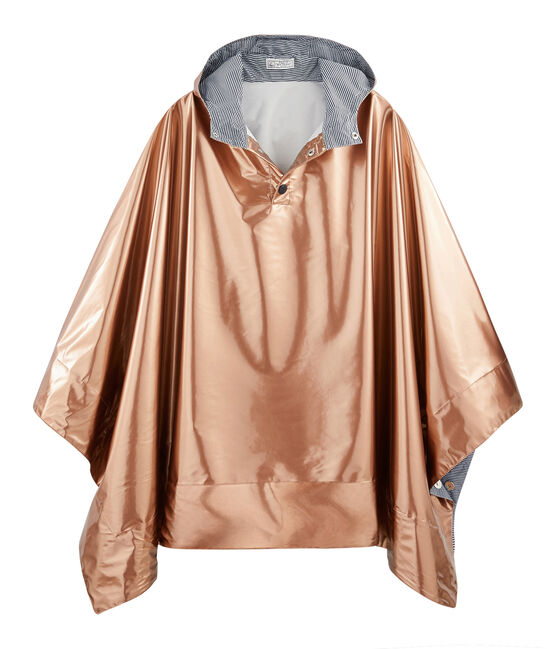 Women's reversible raincoat Copper pink