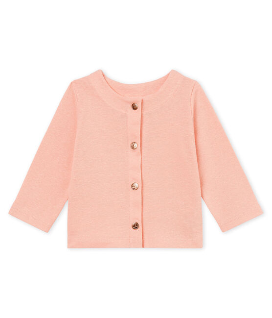 Baby girls' cotton/linen cardigan Rosako pink