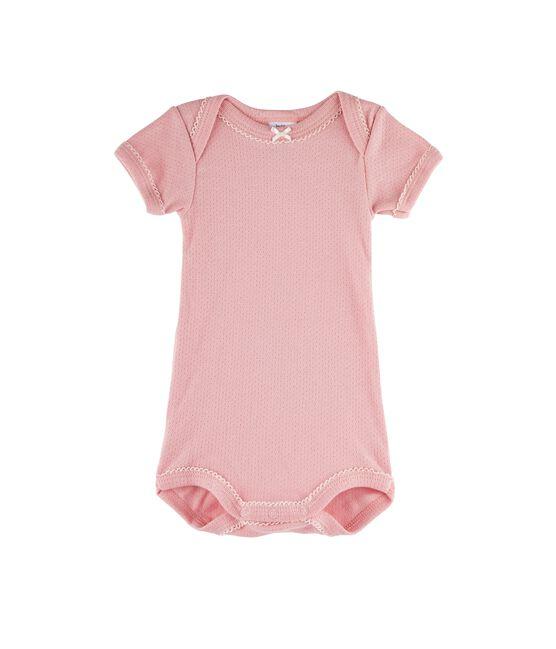 Baby Girls' Short-Sleeved Bodysuit Charme pink