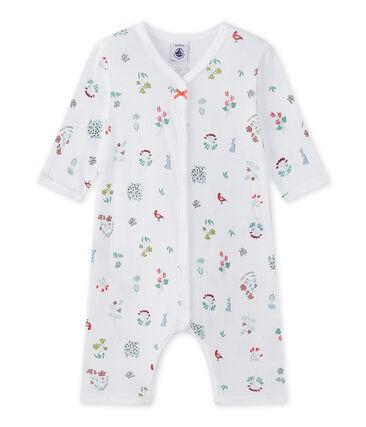 Baby girl's print footless sleepsuit