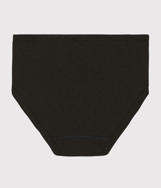 Women's wool and cotton blend briefs Noir black