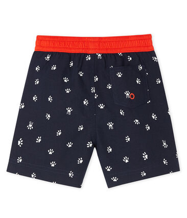 Print beach shorts for baby boys Smoking blue / Multico white