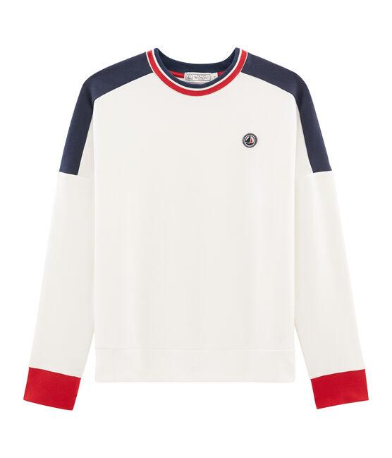 Women's Sweatshirt Marshmallow white / Smoking blue