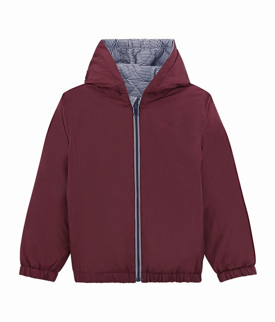 Child's warm, reversible windbreaker jacket Ogre red