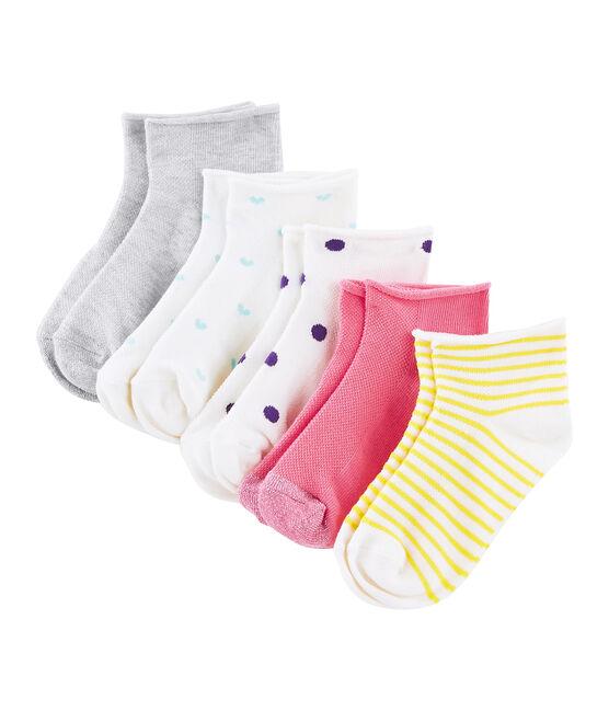Set of 5 pairs of socks for girls . set