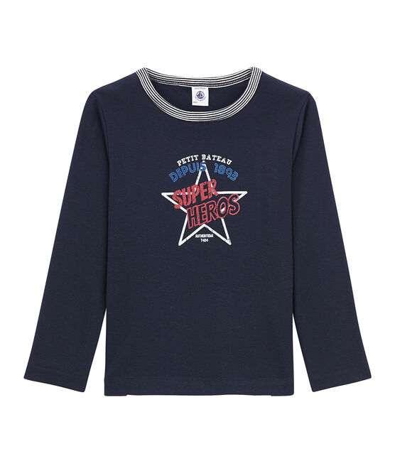 Little boy's long sleeved T-shirt Smoking blue