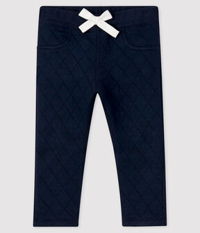 Baby boy's tube knit trousers Smoking blue