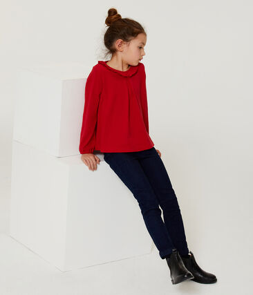 Girls' Long-Sleeved T-shirt Terkuit red