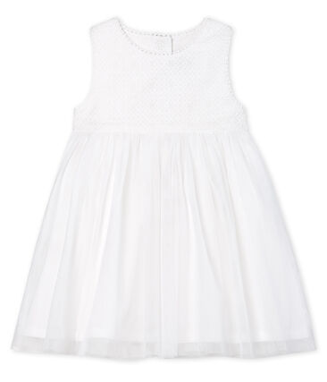 Baby Girls' Special Occasion Dress Marshmallow white / Cuivre brown