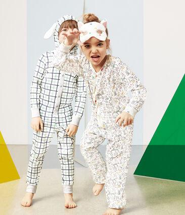 Girls' Jumpsuit Marshmallow white / Multico white