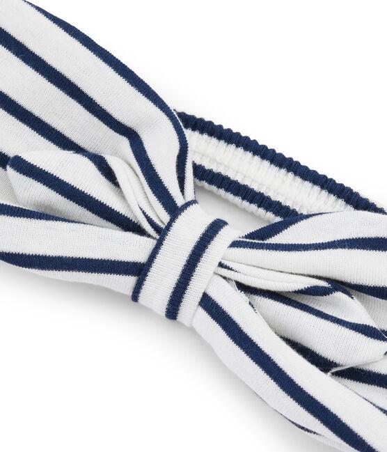 Girls' Headband Marshmallow white / Smoking blue