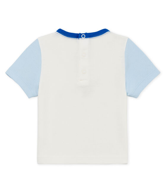 Baby boys' t-shirt with motif Marshmallow white / Toudou blue