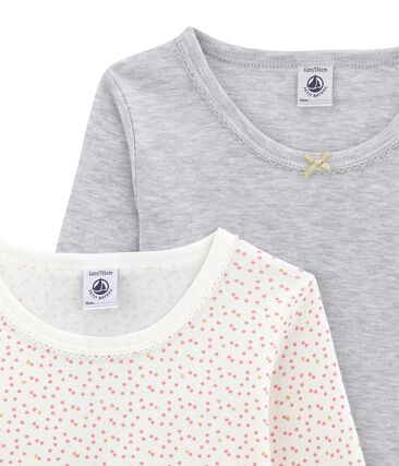 Little girl's long sleeved tee-shirtduo