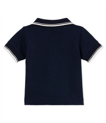Baby boys' plain piqué polo shirt