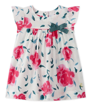 Baby girl's print dress with butterfly sleeves