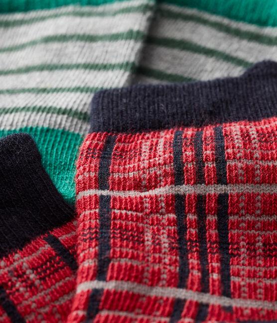 Baby Boys' Socks - 2-Piece Set Terkuit red