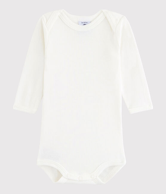 Baby Boys' Long-Sleeved Bodysuit Lait white