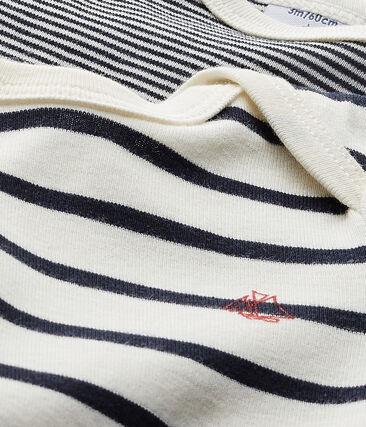 Set of 2 baby's striped unisex bodysuits . set