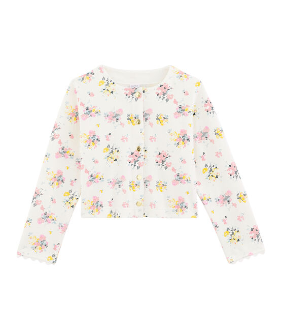 Girls' Cardigan Marshmallow white / Multico white