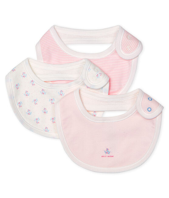 Baby Girls' Rib Knit Bibs - 3-Piece Set . set