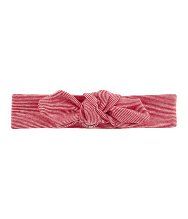 Girls' Hairband Marshmallow white / Terkuit red
