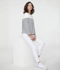 Women's Iconic Sailor Top Marshmallow white / Smoking blue