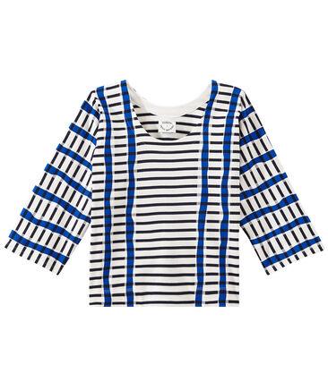 Kimono breton for woman Marshmallow white / Smoking blue