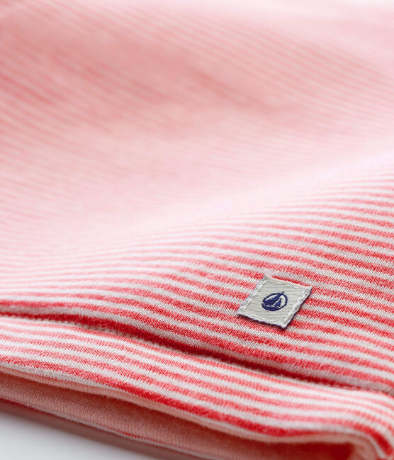 Baby Boys' Ribbed Sleeveless Vest Cheek pink / Marshmallow white
