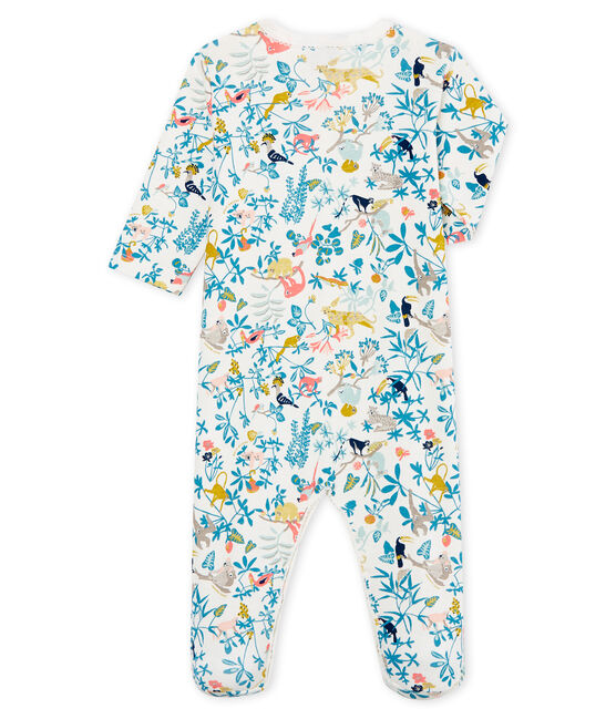 Baby Girls' Sleepsuit Marshmallow white / Multico white