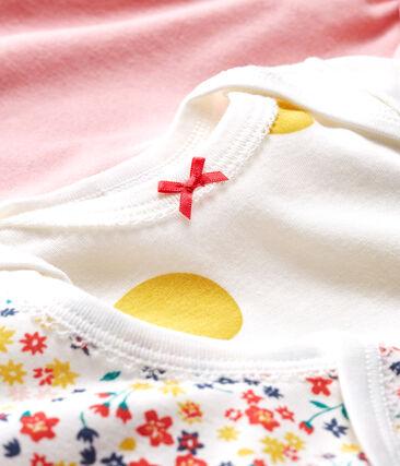 Baby Girls' Long-Sleeved Bodysuit - 3-Piece Set . set