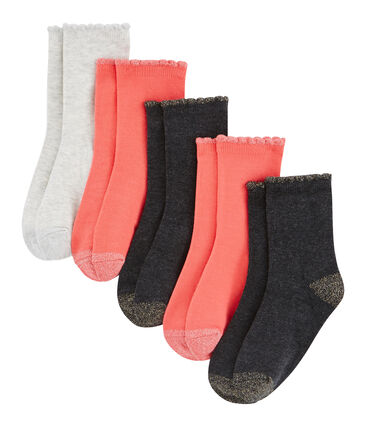 Girls' Socks - 5-Piece Set . set