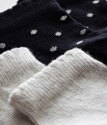 Set of 2 pairs of baby girl's socks