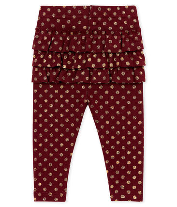 Baby girl's ruffled print leggings