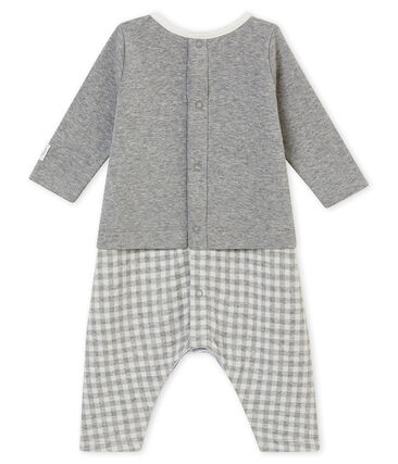 Baby boy's gingham all•in•one