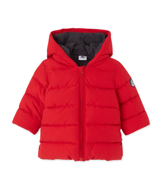 Baby boy's padded jacket Froufrou red