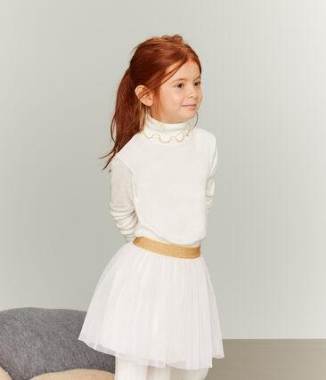 Girls' Undershirt Marshmallow white / Or yellow