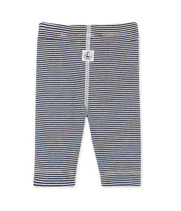 Baby's unisex milleraies-striped leggings Smoking blue / Lait white