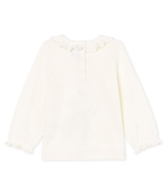 Baby Girls' Long-Sleeved Blouse Marshmallow white